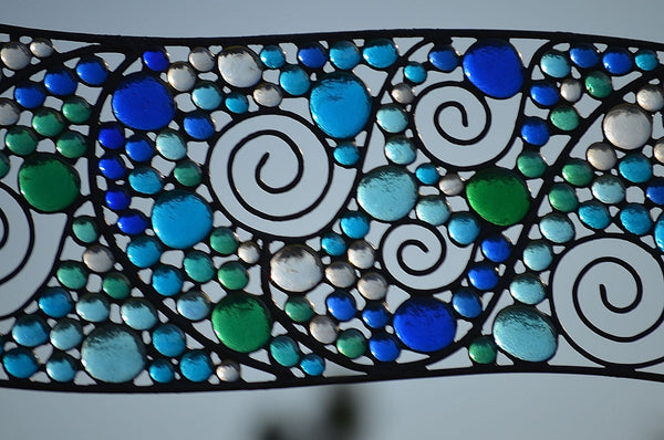 Custom Stained Glass Transom windsong glass studio