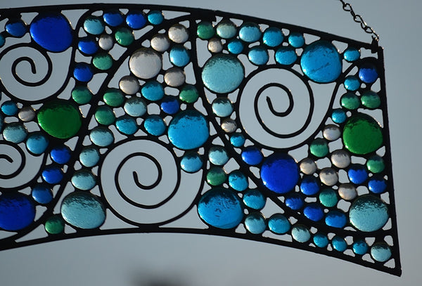 windsong glass studio Stained Glass Art transom
