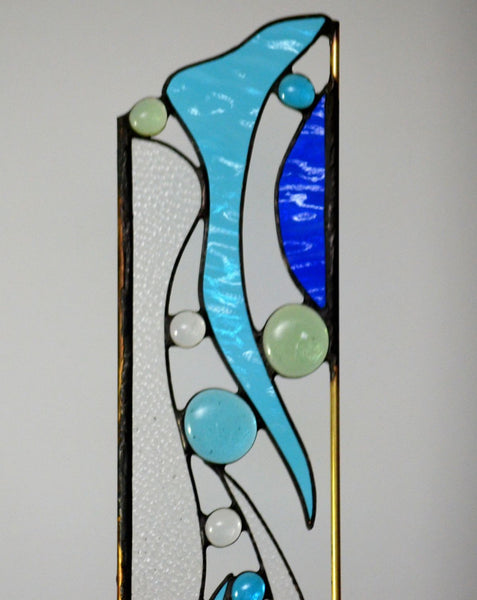 Stained Glass Garden Decoration -Airy Garden Sculpture in Watercolors