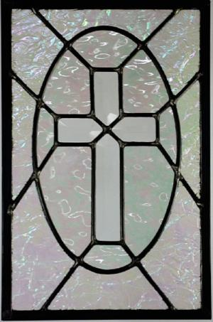 Religious Stained Glass Window -  'Hope for a Broken World'