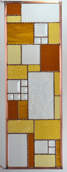 Stained Glass Window Panel in Crisp Fall Colors