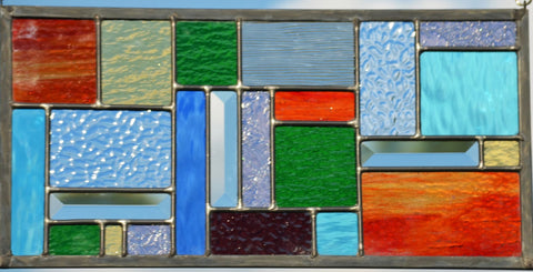 Stained Glass Window Design in Geometric Pattern - Four Seasons