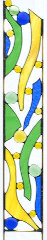 Modern Outdoor Garden Decor - perfect Garden Gift - stained Glass Garden Stake