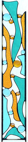 Outdoor Garden Decoration - Contemporary Stained Glass Garden Art  'Edgewater'