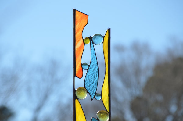 windsong glass studio Stained Glass Garden Stakes