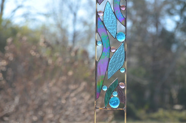 Decorative Glass Garden Stakes