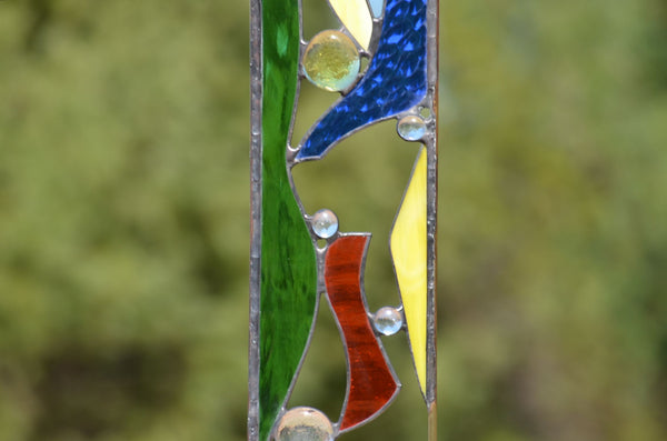 Stained Glass Yard Sculpture