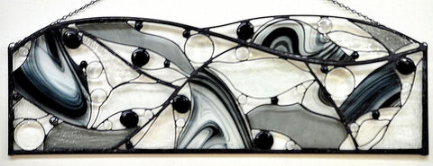 Contemporary Abstract Stained Glass - 'New Worlds'