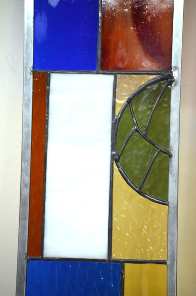 tiffany style stained glass panels by Windsong Glass Studio