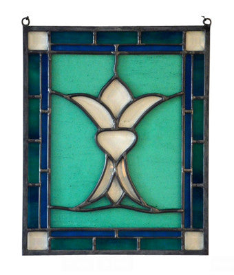 Stained Glass Flower Suncatcher - Fleur de Lis