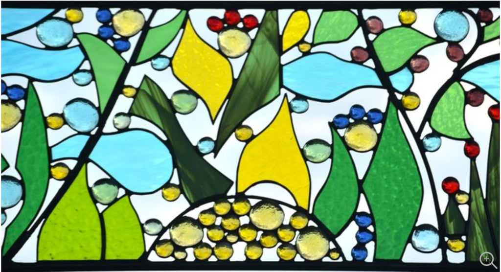 Stained Glass Window Art.Contemporary Abstract Stained Glass Window Or Wall Art