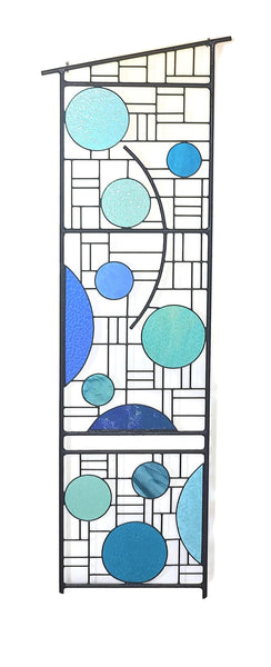 Large stained glass garden sculpture