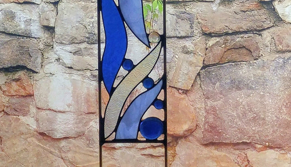 Outdoor Stained Glass Yard Art - 'Gentle Breeze'