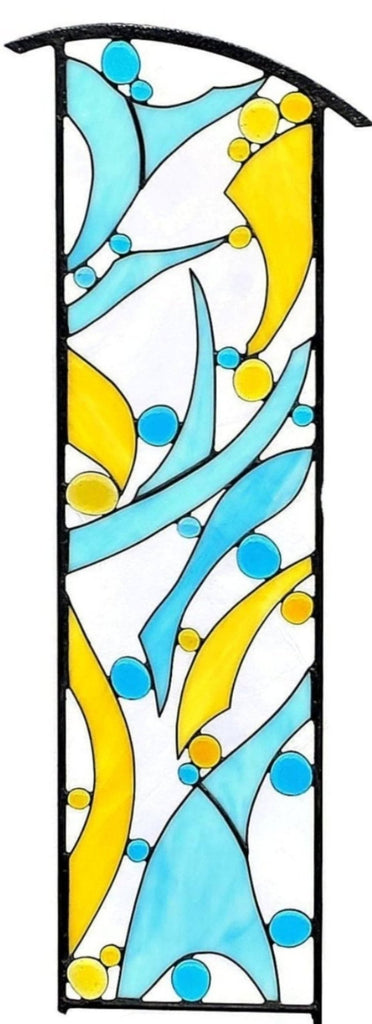 Large Stained Glass Garden Art