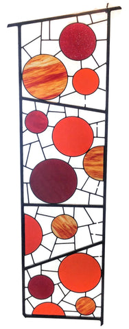 tall stained glass yard art by Windsong Glass Studio