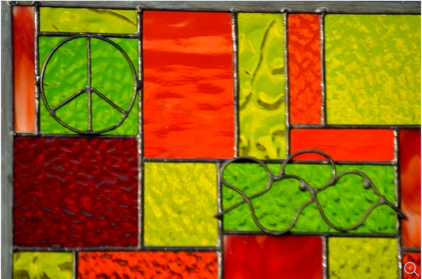Stained Glass Window Panel windsong glass studio