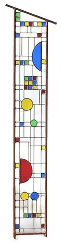 Craftsman glass art garden stake