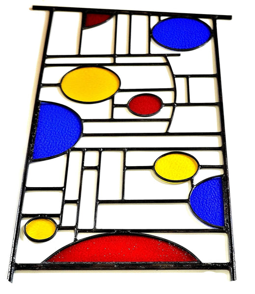 Leaded Stained Glass Garden Sculpture