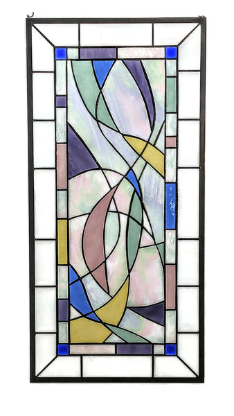 Modern Stained Glass Art by Windsong Glass Studio