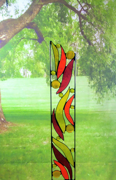 Stained Glass Garden Sculpture - 'Solar Flares'