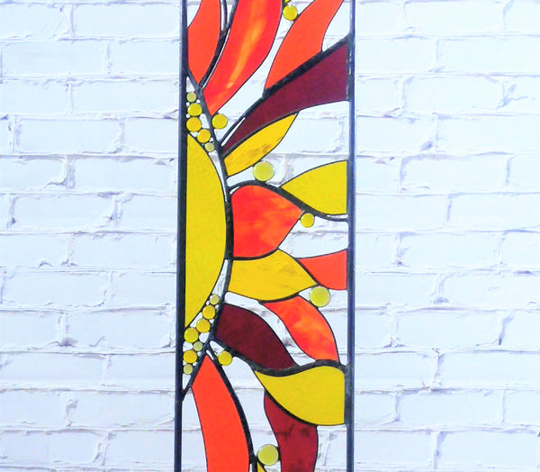 outdoor stained glass garden decor