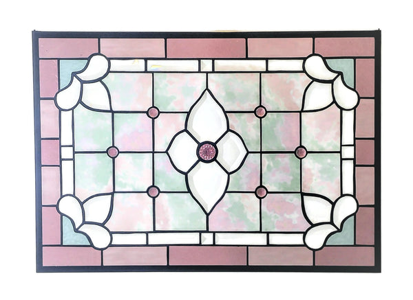 victorian stained glass window by Windsong Glass Studio