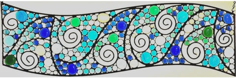 Modern Glass and Metal Window Hanging or Wall Art