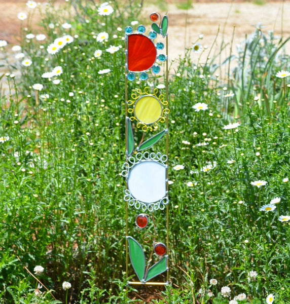 Wildflowers Garden Art by windsong glass studio