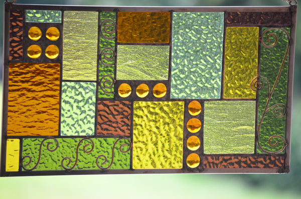 windsong glass studio Stained Glass Window Treatment