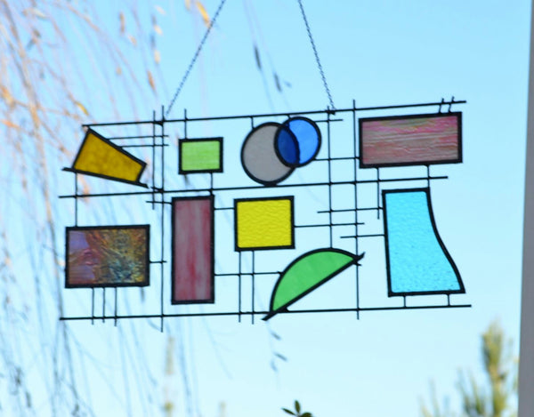 Stained Glass and Metal Sculpture