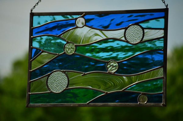 Stained Glass Window Hanging by windsong glass studio