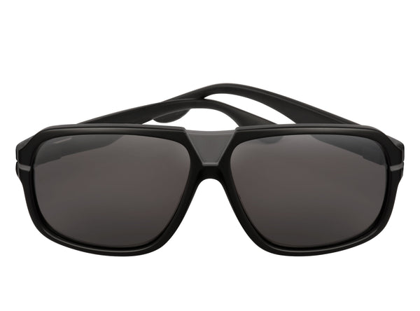 scin owl polarized sunglasses: matte black