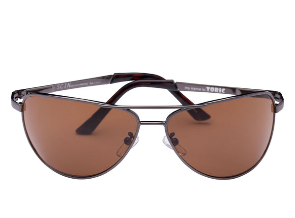 scin toric sunglasses: gun metal grey