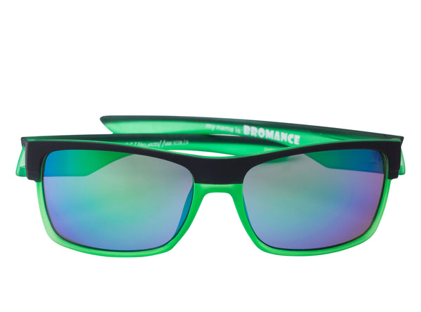 scin bromance polarized sunglasses: black / green
