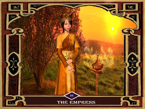 3 - The Empress Canvas Wall Art - Tarot Canvas Wall Art - One Panel