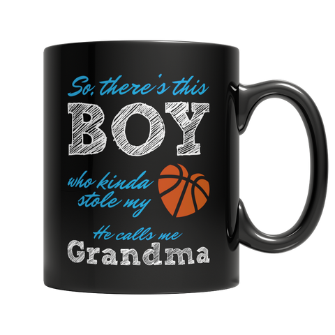 Limited Edition - So, there's this Boy who kinda stole my heart, he calls me Grandma (Basketball) Mug