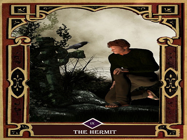 9 - The Hermit Canvas Wall Art - Tarot Canvas Wall Art - Large One Panel