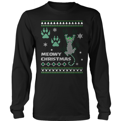 Limited Edition - Meowy Cat Christmas Long Sleeve Shirt
