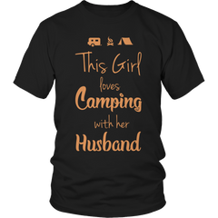 Camping With Her Husband Shirt