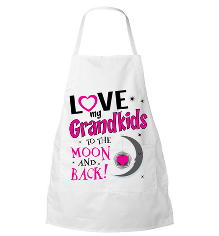 Love My Grandkids To The Moon And Back Apron