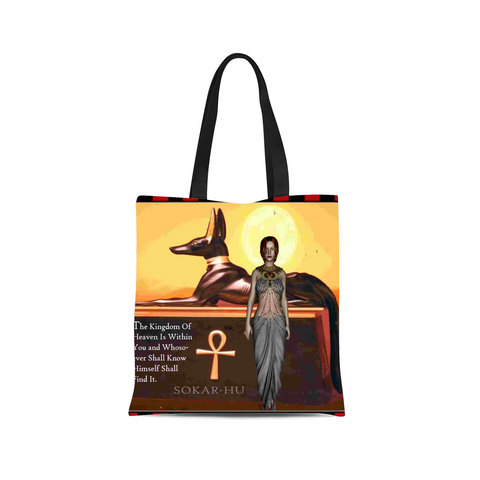 Ancient Egyptian Ankh Canvas Tote Bag