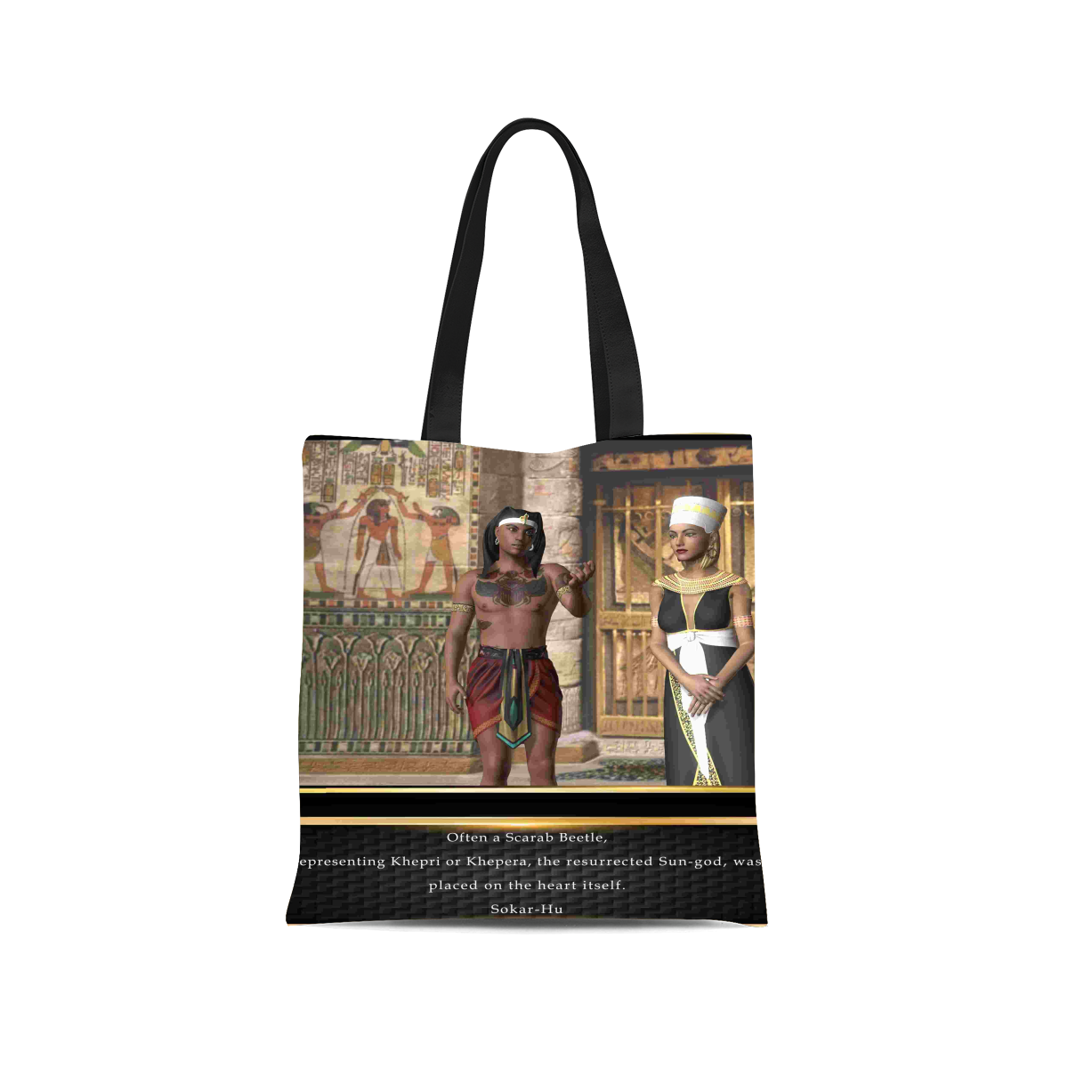 Ancient Egyptian Scarab Canvas Tote Bag