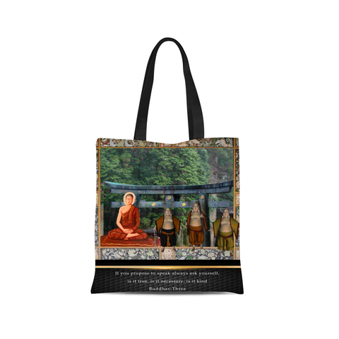 Buddhas at Temple Canvas Tote Bag
