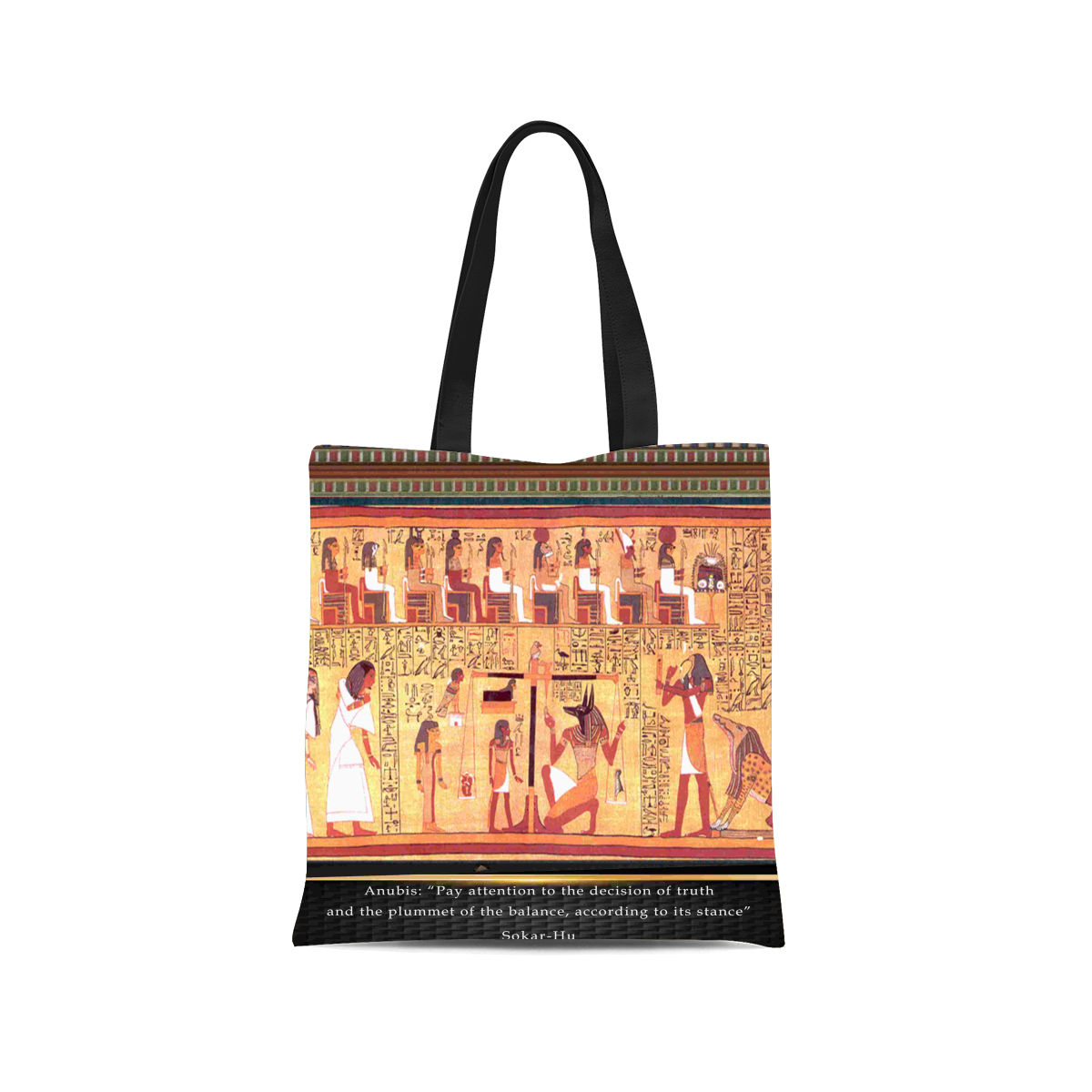 Ancient Egyptian Anubis Canvas Tote Bag