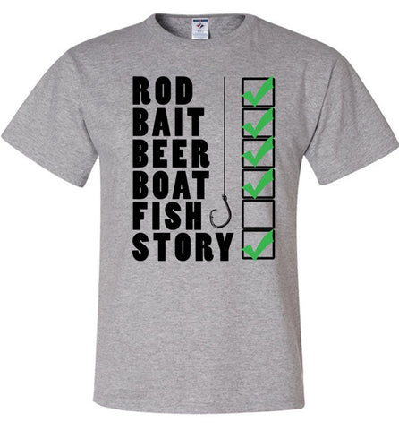 Fishing Checklist Shirt