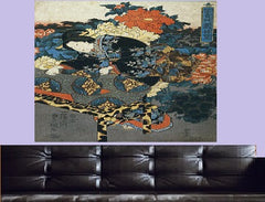 Fukigusa sono yuran, Visiting a Flower Garden Three Canvas Wall Art - Large One Panel