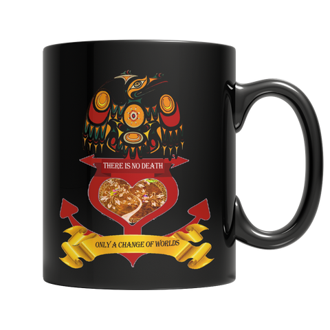 Change Of Worlds Black Mug - Native American