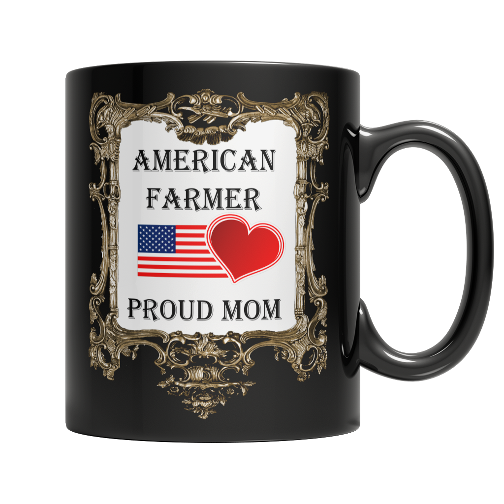 American Farmer - Proud Mom Dark Mug