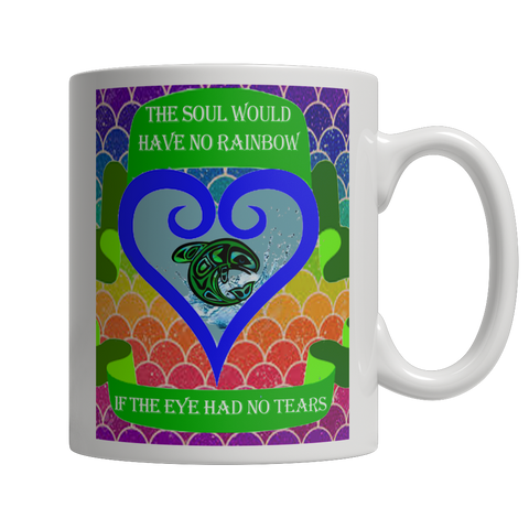 Rainbow Soul White Mug - Native American