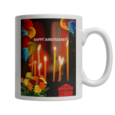 Happy Anniversary White Mug